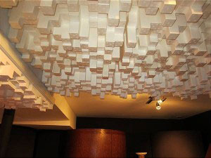 "RPG Skyline Ceiling Diffusion, a costly and coveted acoustic treatment…""Late Ceiling Splash"" fills the listening room with desirable and pleasurable late-arriving high-intensity ceiling-reflected energy."